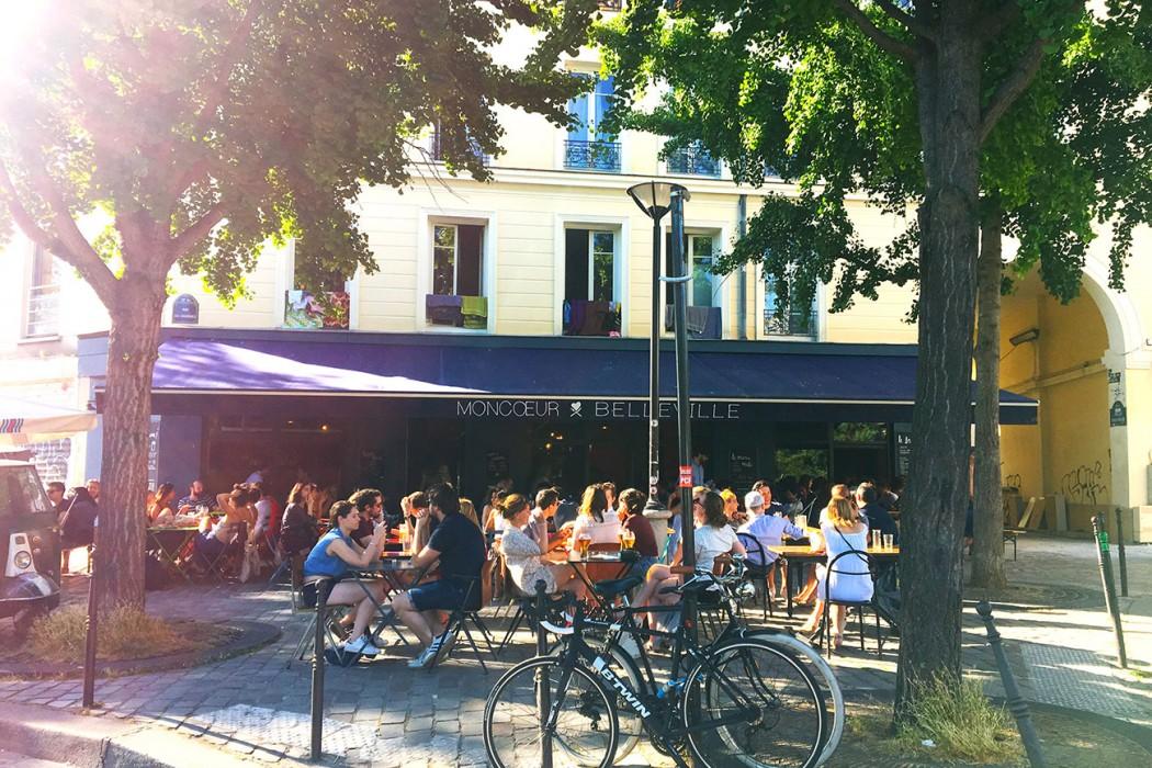 Comme un petit village en haut de paris moncoeurbelleville - Restaurant en terrasse paris ...