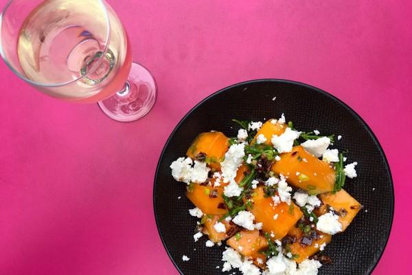salade-melon-chorizo-boudin-noir-restaurant-moncoeur-belleville