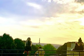 Poetic landscape from the most beautiful Parisian terrace